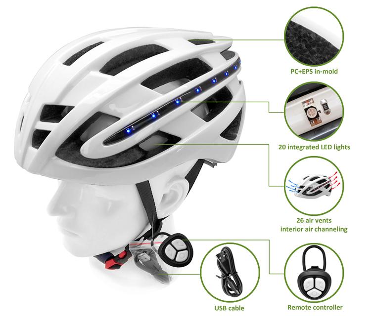 High Quality LED bike helmet 7