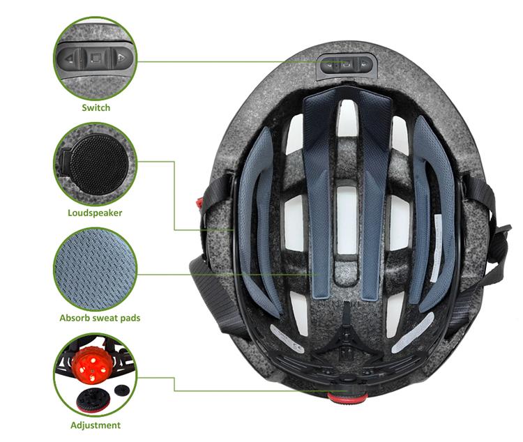 Rechargeable-smart-Bluetooth-helmet