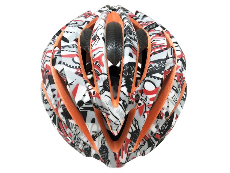 2019 New Design Stylish Carbon Fiber Road Bike Helmet 7