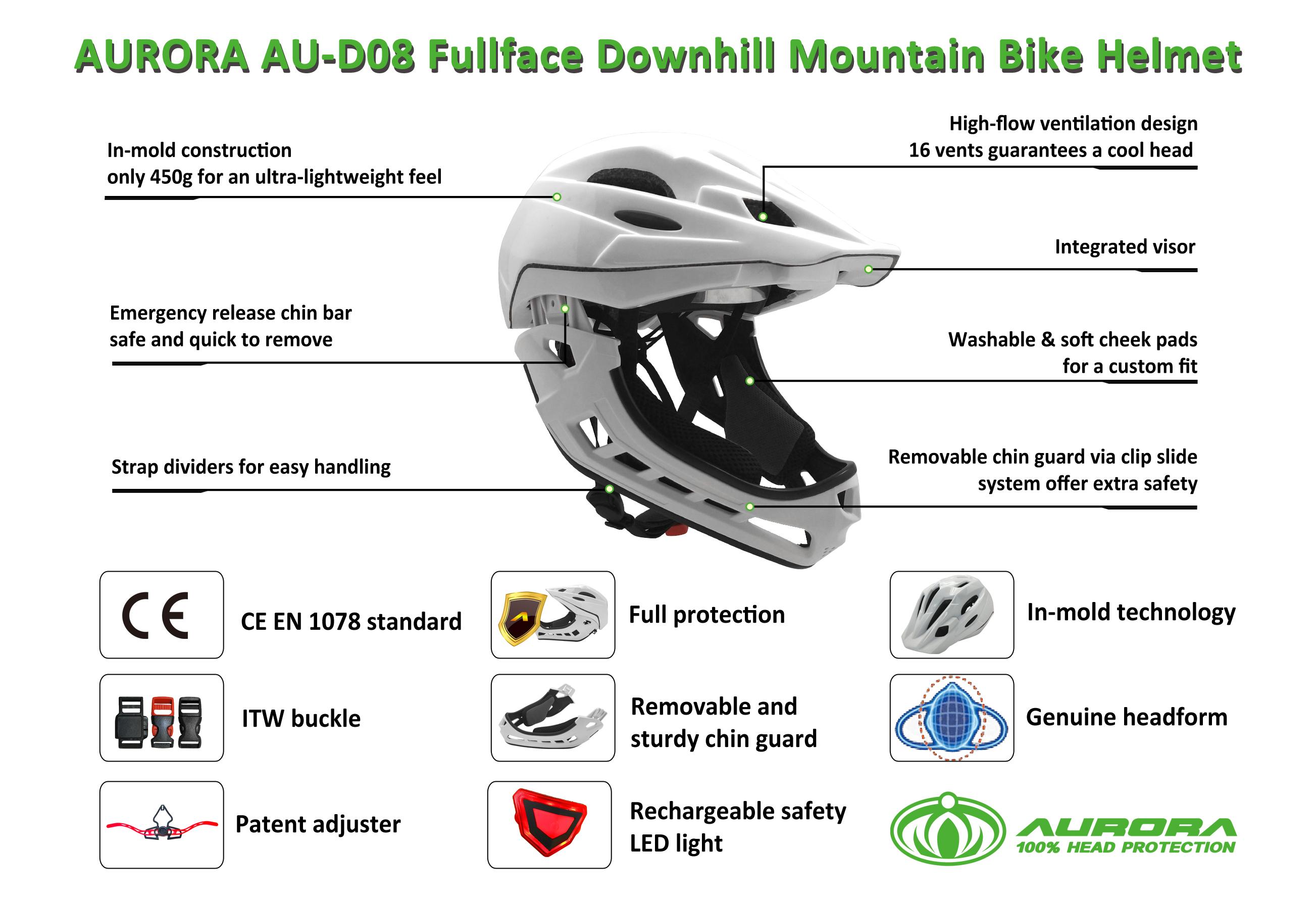 Full-face Cycling Kids Downhill Mountain Bike Helmet