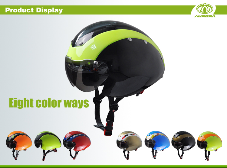 New In-mold Time Trial Tt Co Road Racing Bicycle Helmet With Certification