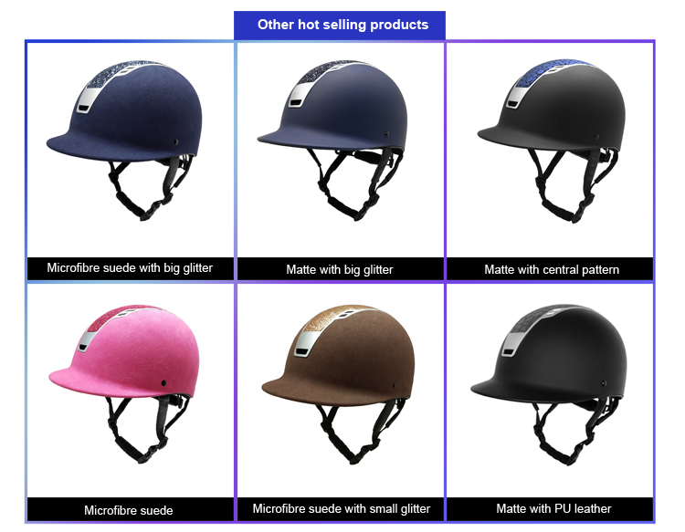 High Quality Navy blue riding helmet 15