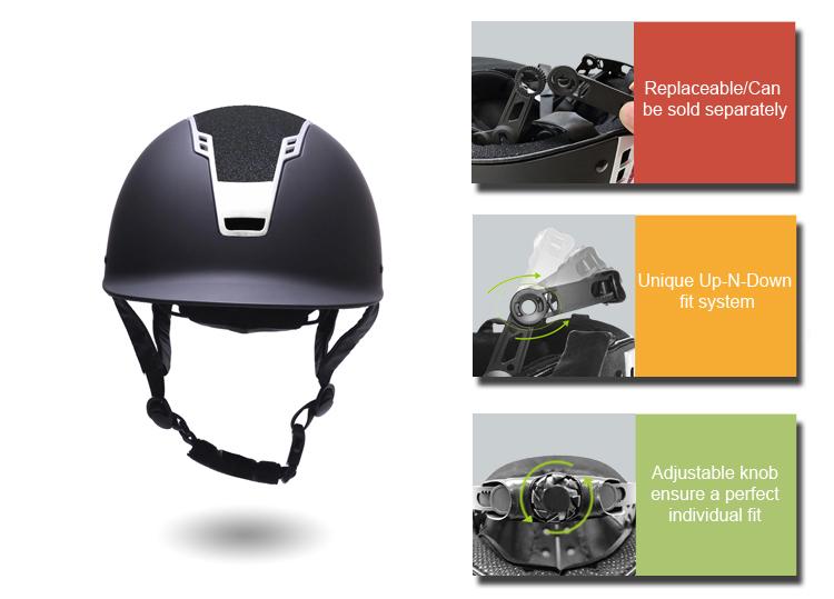 Velvet-Horse-Riding-Helmet-With-Visor