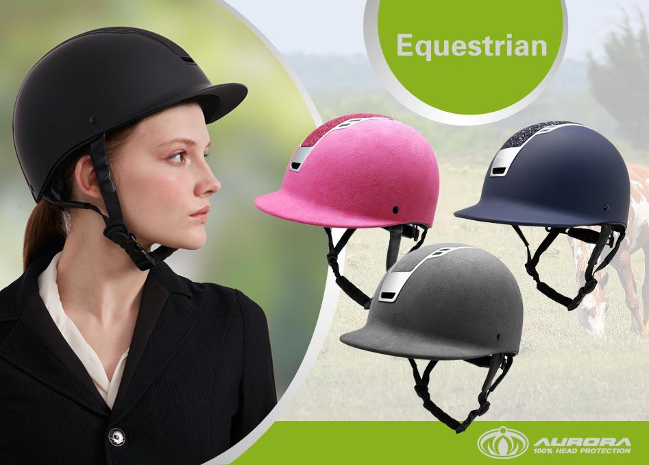 Matte-Black-Adjustable-Riding-Horse-Helmet-with