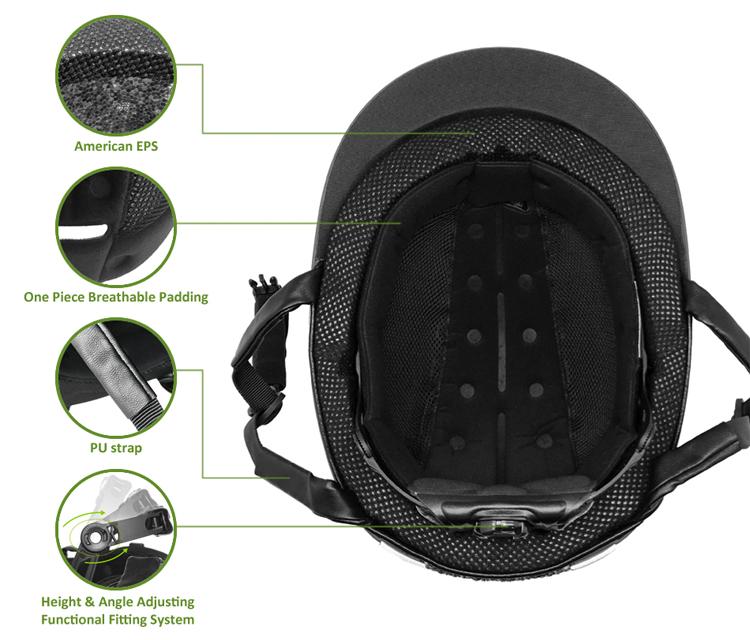 Black Velvet Schooling and Recreational Riding Helmet 7