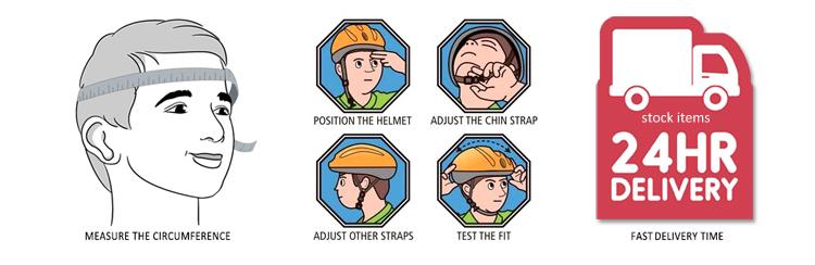 woman climbing helmet AU-M02 Details 27
