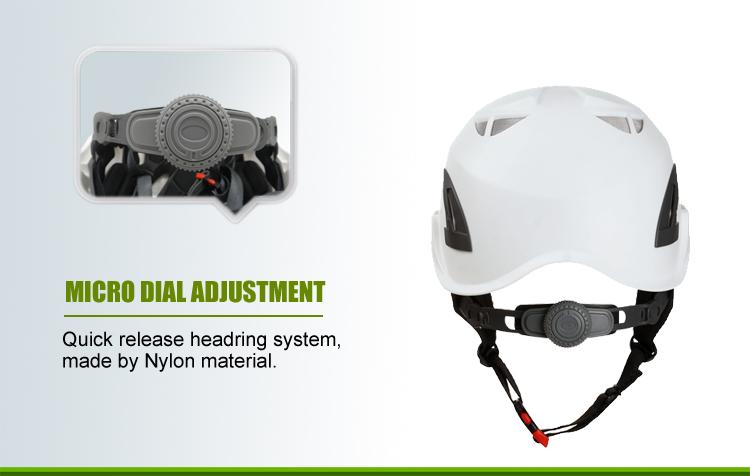 EN 397 Industrial Smart Safety Helmet For Construction/Treeclimbing/Arboriculture 9