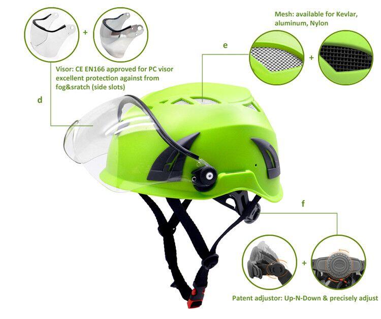 CE EN 397 approval scaffolding climbing helmets 16