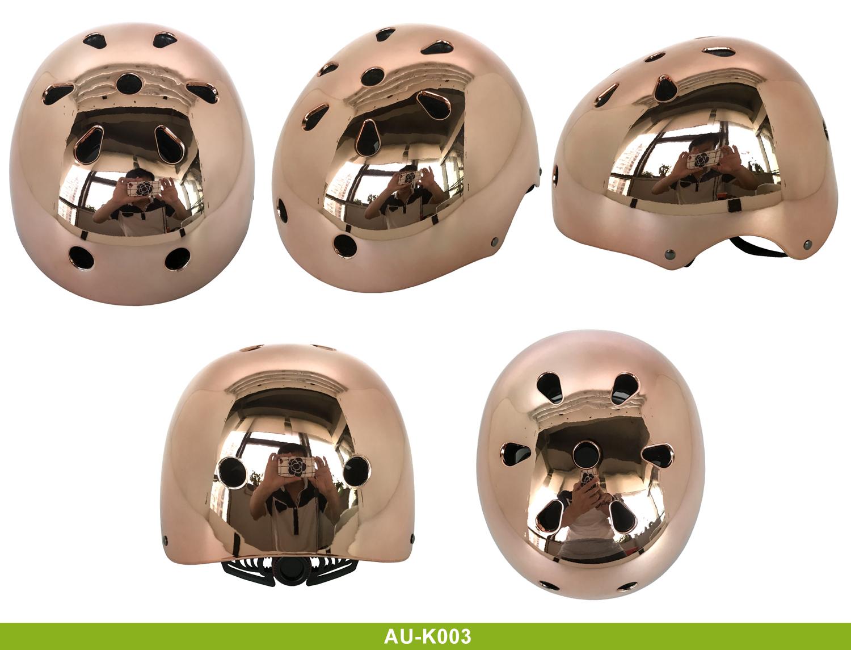 High Quality mirrored skate helmet 3
