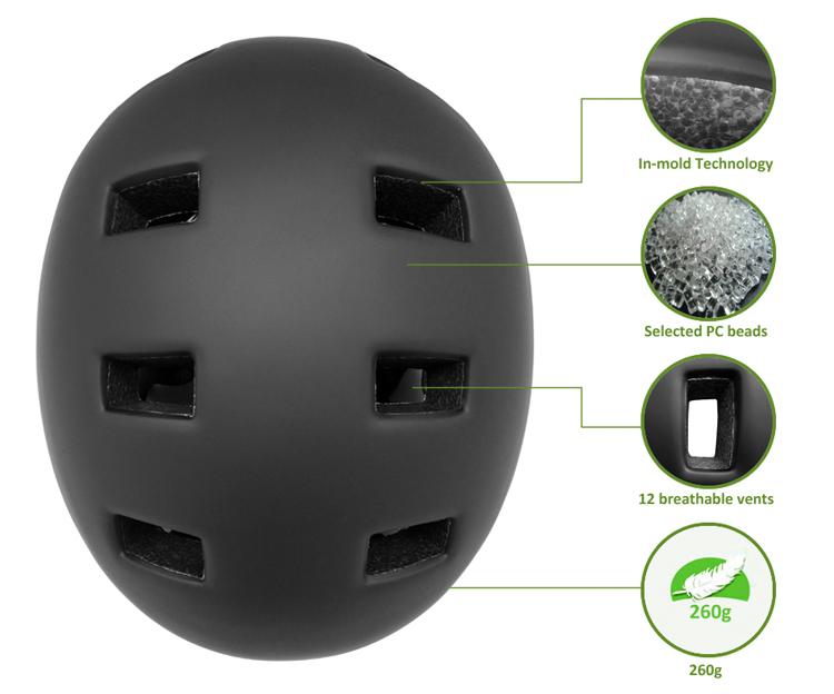 In-mold Cool Youth Skateboard Helmet 7