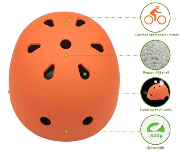 CPSC/CE EN 1078/AS-NZS approved kids scooter helmet 7