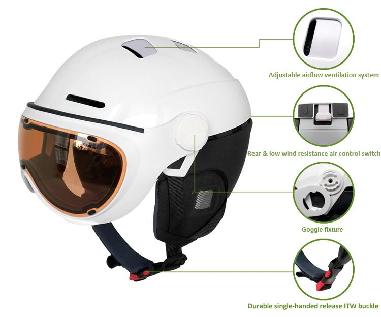 Custom brand sports safety ski touring helmet 3