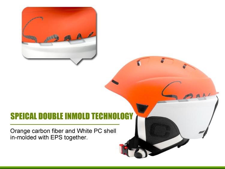 Multyfunctional Carbon Fiber Ski Helmet