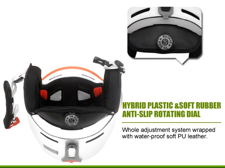 Multyfunctional Carbon Fiber Ski Helmet 15