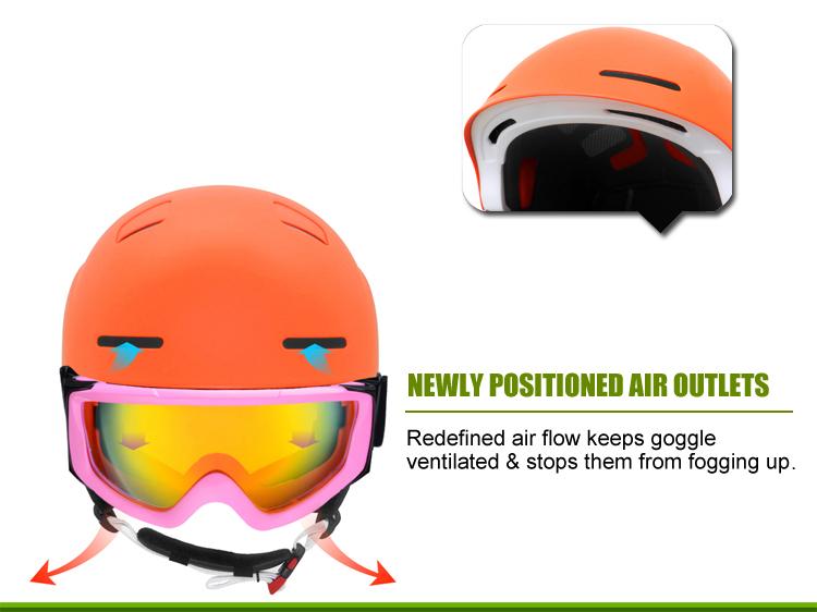 Multyfunctional Carbon Fiber Ski Helmet 19
