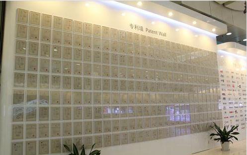Display of various patent certificates