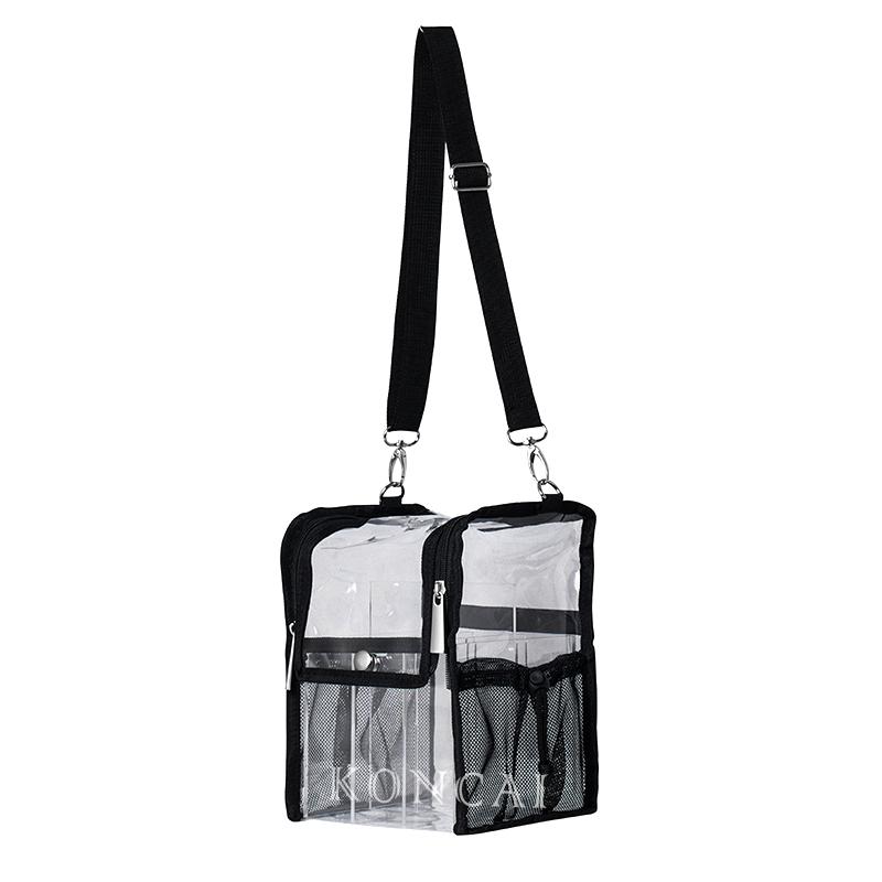 Eco-friendly Waterproof Travel Acrylic Organizer Shoulder Bag KC-PB029L