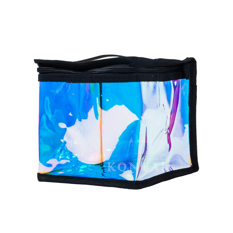 Square Shape Small Waterproof Transparent Cosmetic Bag KC-PB01M