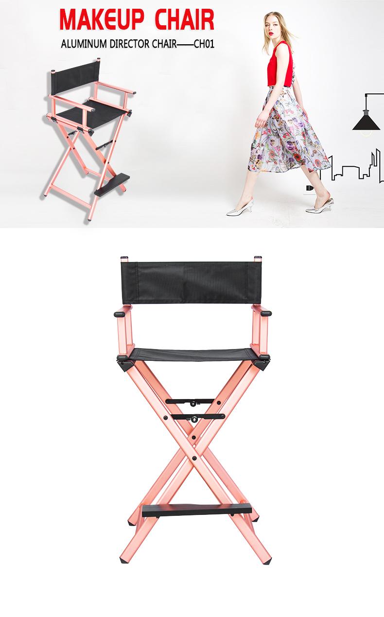 Professional Eco-friendly Aluminum Makeup Chair KC-CH01 Rose Gold