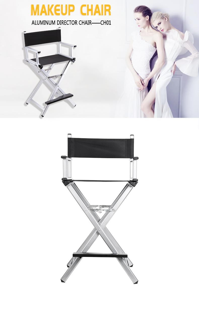 Professional Classical Lightweight Aluminum Makeup Chair KC-CH01 silver