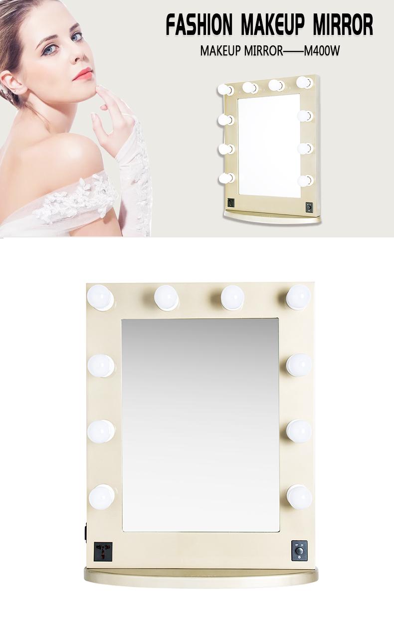 Energy-saving Wood Frame Hollywood Vanity Makeup Mirror KC-M400W Gold
