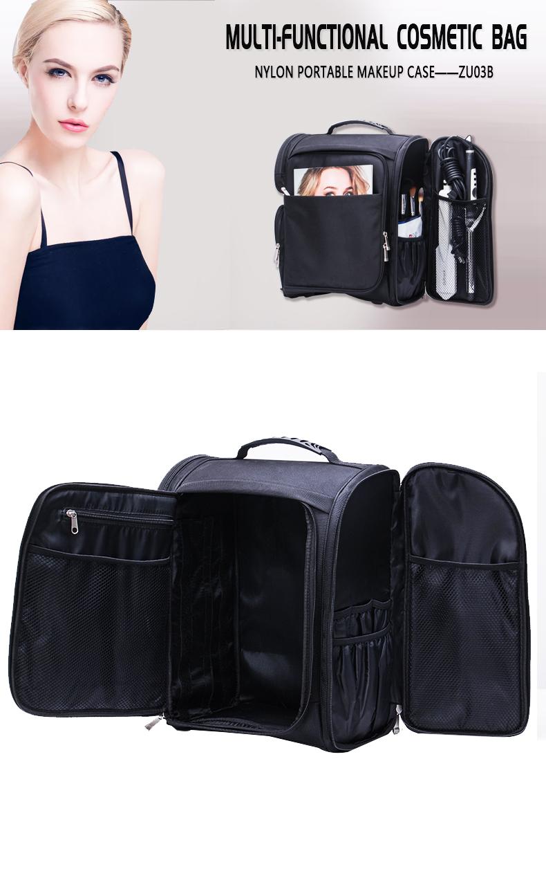 Nylon portable makeup case of KC-ZU03B