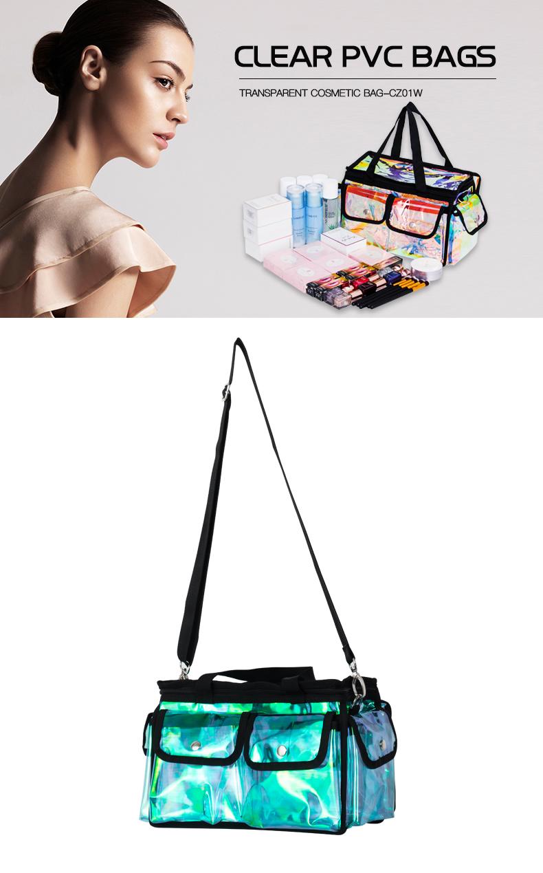 Metal Zipper Makeup Cosmetic Bag Toiletry Tote KC-CZ01W