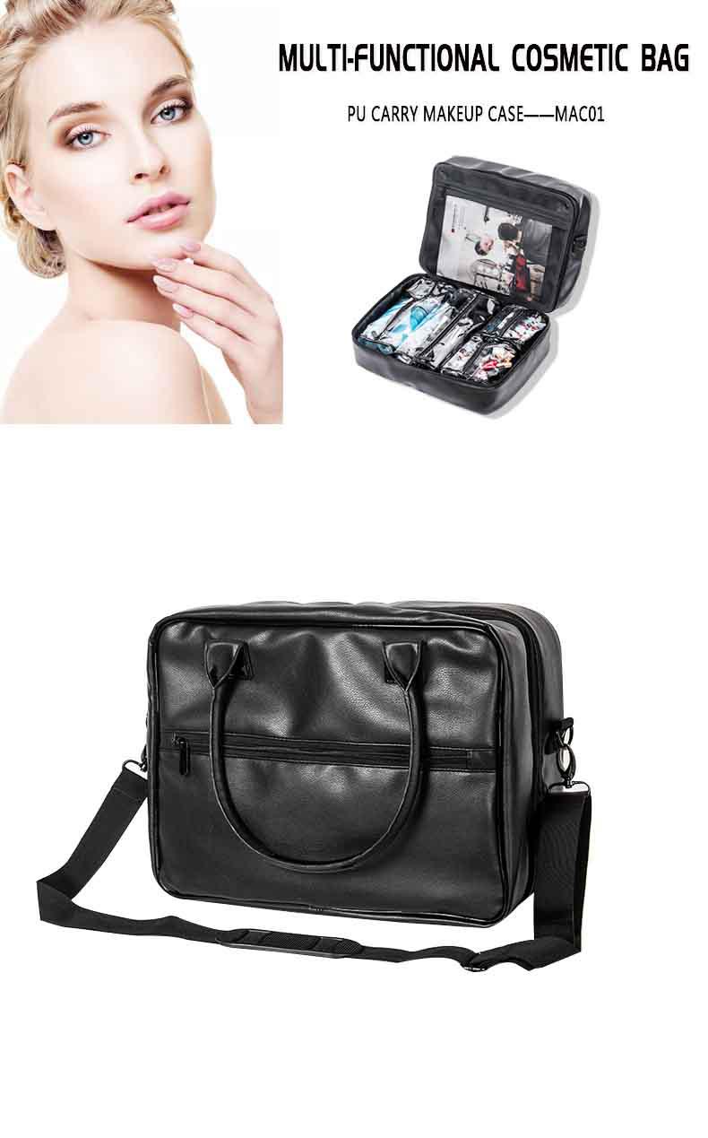 PU Carrying Makeup Case with KC-MAC01 Black