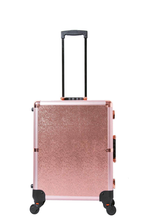 2017 Popular Color Aluminum Makeup Trolley Case with Light Makeup Station 27
