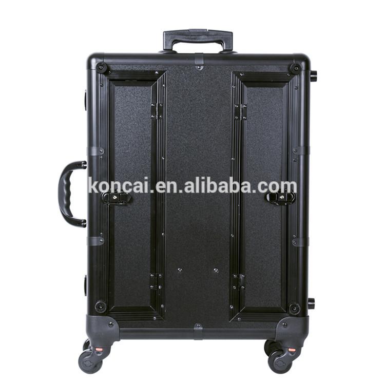 Portable Pink Cosmetic Vanity Aluminum Case 17