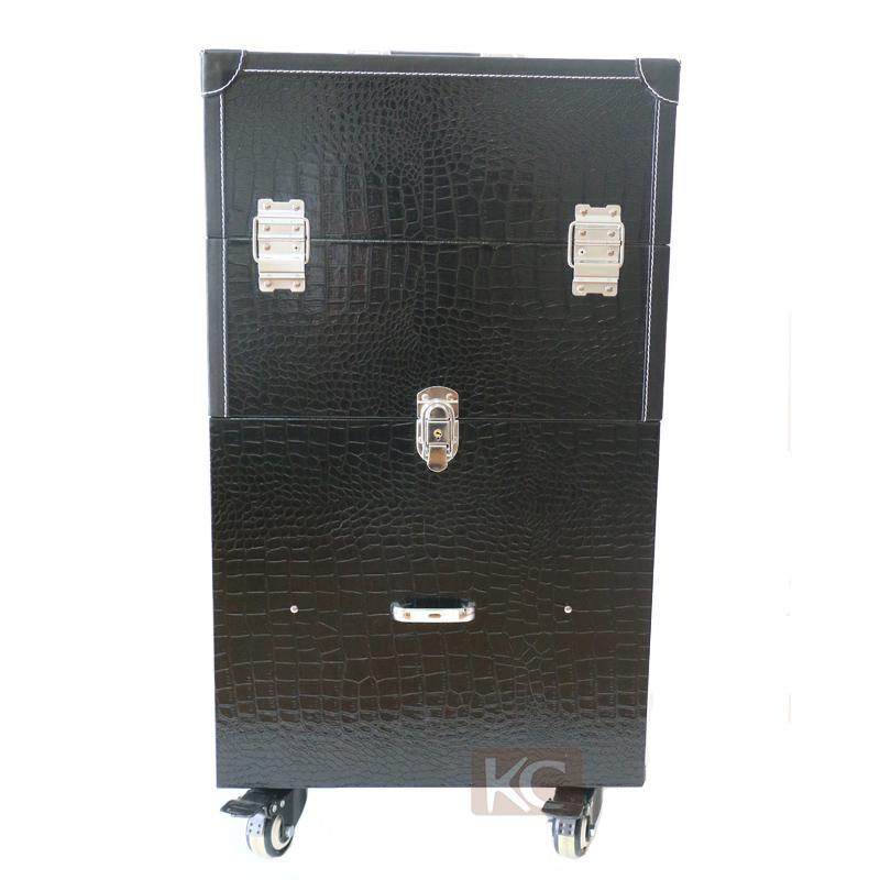 Beautiful-design-black-pvc-leather-trolley-make