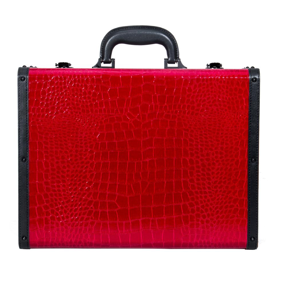 Red-Crocodile-PU-leather-Case-Beauty-Case