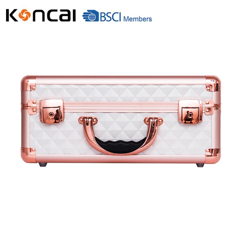 Koncai New Color Vanity Case with LED Lights Aluminum Suitcase Portable Makeup Case 21