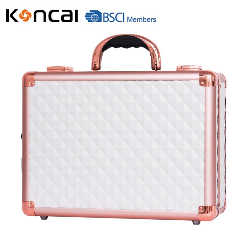 Koncai New Color Vanity Case with LED Lights Aluminum Suitcase Portable Makeup Case 3