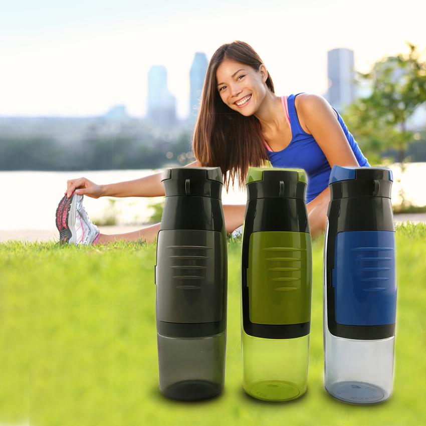 750ml Portable Sport Plastic Drinking Water Bottle
