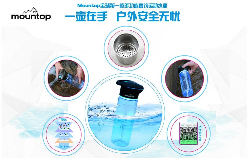 Drinking Sport Multi Functional UV Sterilizer Water Bottle 25