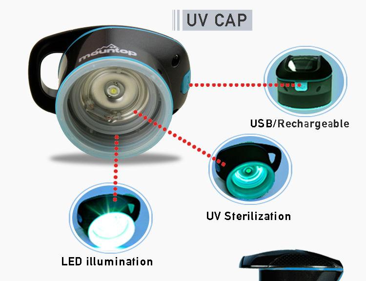 Drinking Sport Multi Functional UV Sterilizer Water Bottle 9