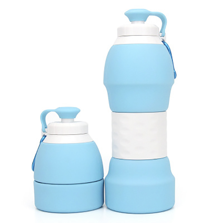 2019 New best selling water silicone bottle with sleeve