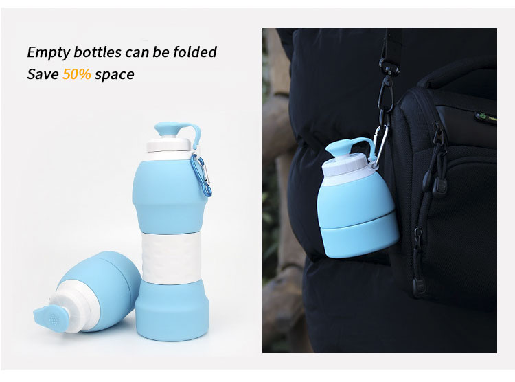 2019 New best selling water silicone bottle with sleeve 5