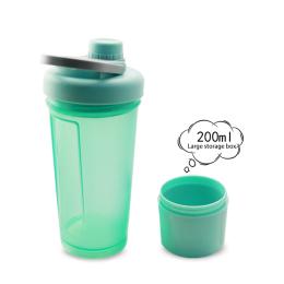 protein plastic mixing blender shaker water drink gym bottle