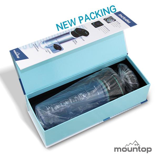 Mountop New Design UV Purifier Bottle Outdoor Sports Drinking Water Bottle 19
