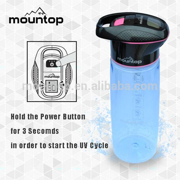 High-end electric shaker bottle BPA free UV sterilization water filter mugs