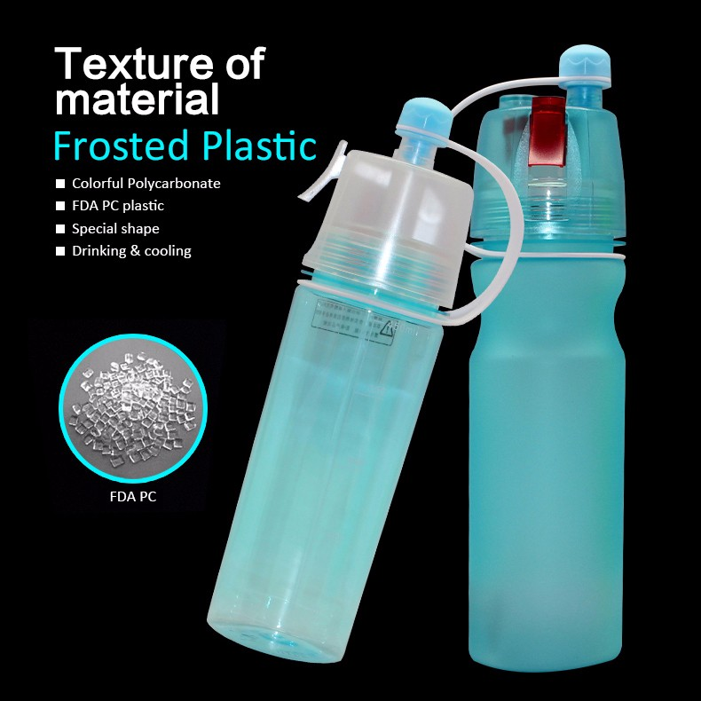custom drinking sports plastic drink water bottle with spray