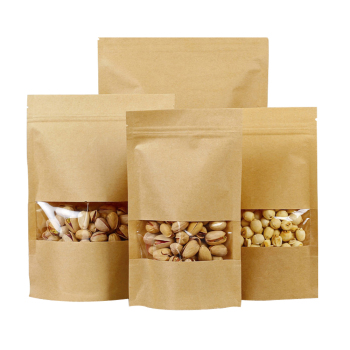 Brown-Kraft-Paper-Zipper-Food-Bags-With