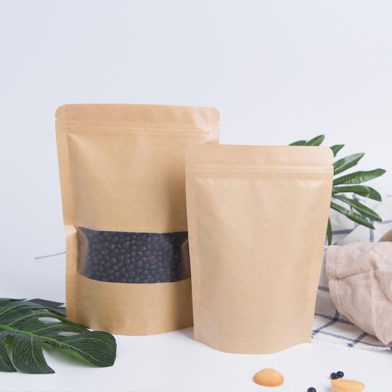 Doypack-Glossy-Ziplock-Kraft-Paper-Stand-Up
