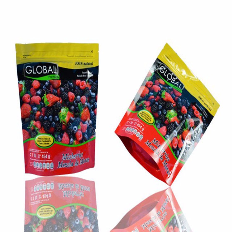 Wholesale price Laminated Stand Up Pouch and Round Bottom Plastic Packaging Food Bag with Zipper