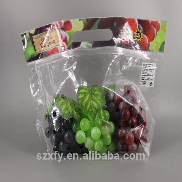 Custom Printed OPP CPP Laminated Ziplock Plastic Food Packaging Bag For Fruits/Vegetables