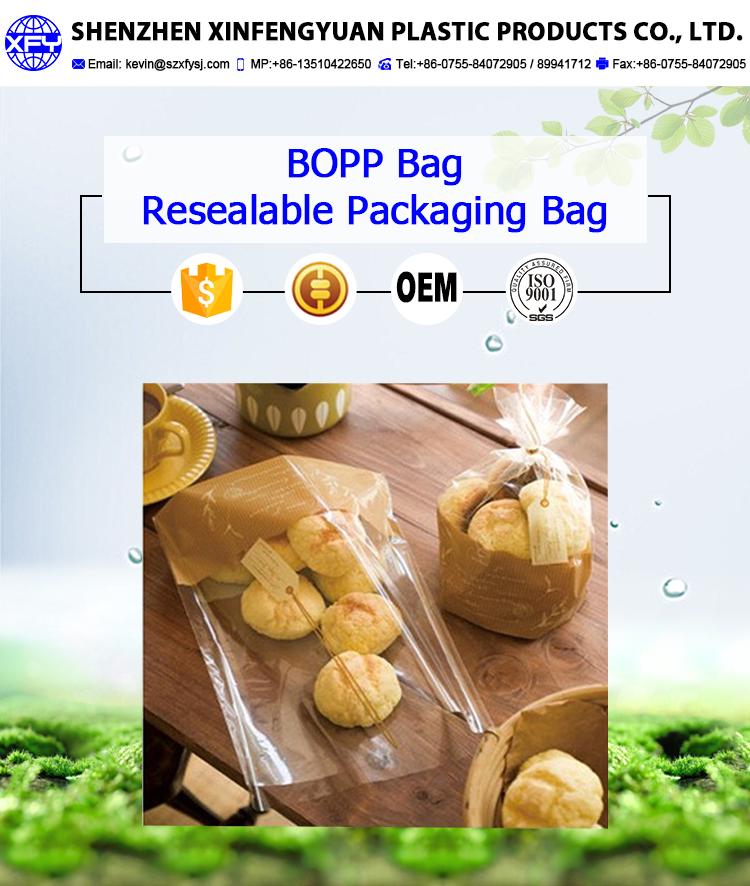 Manufacturer Custom Food Safe Grade Packaging Plastic Bread Bags