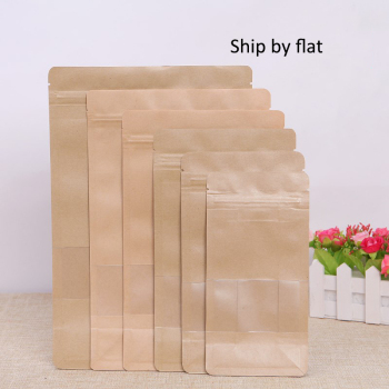 6sizes-Kraft-Paper-Packaging-bag-Frosted-window