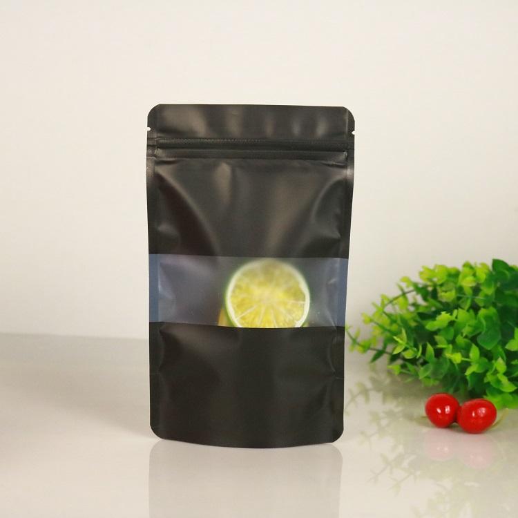 Colourful Standup Plastic Bag With Matt Window And Zipper